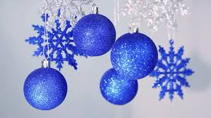 blue and silver festive background new year shining