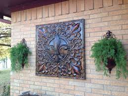 Garden Wall Decor Ideas Appealing Outdoor Wall Decor Metal Compass Rose Art Nautical
