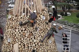 hello christmas tree hello wood creates three christmas trees in budapest london and