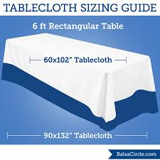 What Size Tablecloth For 6ft Rectangular Table by The 60