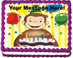 curious george cake topper curious george edible cake topper image curious george cupcakes