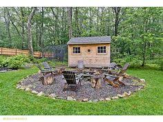 Easy Fire Pits by Do This Finely Crushed Rock With Some Type Of Boarder Maybe A