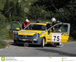 renault rally renault clio rally car editorial photography image of ascent