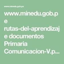 unidades y sesiones de aprendizaje comunicacion minedu rutas cierre se realiza la metacognición a través de las siguientes