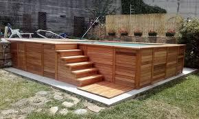 rivestimento in legno per piscine fuori terra piscine poolmaster l alta qualit罌 罟 tutta made in italy