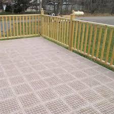 precautions for installing deck tiles over wood decks