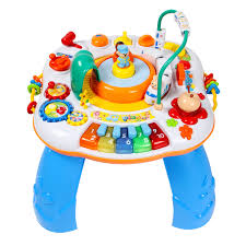 baby standing table toy free shipping letter train and piano activity table musical baby