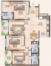 1800 sq ft 1800 sq ft 3 bhk floor plan image brigade group omega available