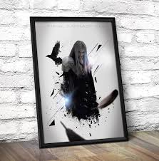 final fantasy vii poster final fantasy inspired sephiroth poster