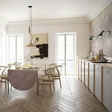 pink kitchen ideas kitchen style modern pink kitchen set with long dining table and