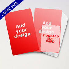 large size custom playing cards blank