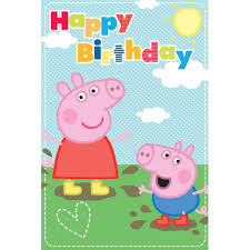 peppa pig birthday happy birthday peppa pig birthday card 212686 character brands