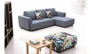 d achant tissu canap petit canapé d angle en tissu farabi lecoindesign