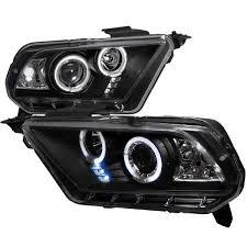 2010 Black Mustang 2010 Ford Mustang Dual Angel Eye Halo U0026 Led Projector Headlights