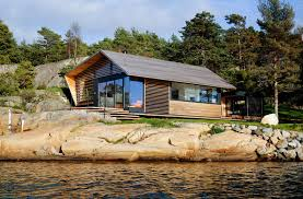 lund slaatto architects have designed a cedar clad contemporary