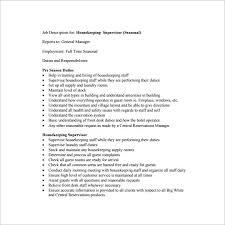 10 supervisor job description templates u2013 free sample example