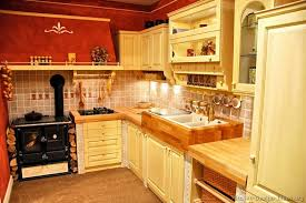 yellow and red country kitchen with or i could use all three
