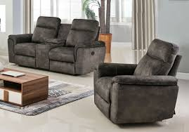 Fabric Reclining Sofa Flatbush Grey Fabric Recliner Sofa