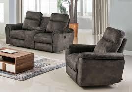 Fabric Recliner Chair Flatbush Grey Fabric Recliner Sofa