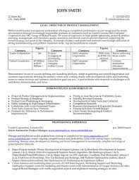Manager Sample Resume Executive Resume Click Here To Download This Director Or Product