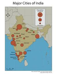Map Of India Cities Major Cities Of India Perceptual Vs Absolute Scaling U2013 Kateryna
