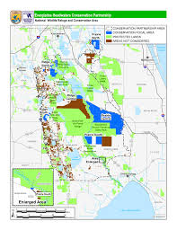 Land O Lakes Florida Map by Everglades National Wildlife Refuge Association