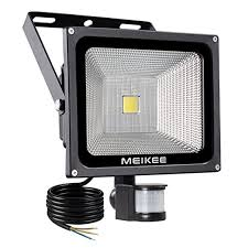 outdoor led motion lights meikee 50w led motion sensor flood light ip66 waterproof outdoor