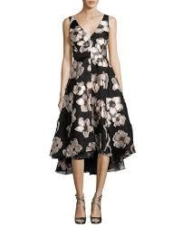 floral high low hem dress neiman marcus