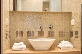 mosaic tiled bathrooms ideas beige toilets and sinks ideas with two beige mosaic tiles home