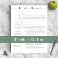 Resume Samples Of Teachers by Teacher Resume Template For Word U0026 Pages 1 3 Page Resume For