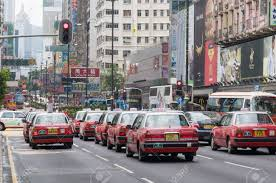 red toyota hong kong may 13 classic red toyota crown taxis waiting at