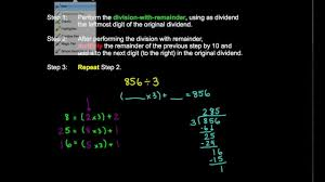 4 nbt 6 division with remainder 1 digit divisor youtube
