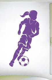 695 best sport wall decals images on pinterest bedroom ideas girls soccer wall decal 0292 soccer theme decal sports decal dribbling