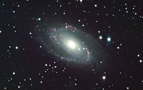 sunflower galaxy m81 with extra galactic hydrogen emission nebulae