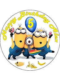 despicable me cake topper 7 5 despicable me minions edible icing birthday cake topper