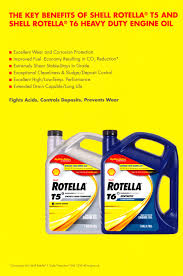 the key benefits of shell rotella t5 and t6 heavy duty engine oil