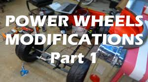 power wheels wheels jeep wrangler power wheels 24v upgrade power steering kidtrax part 1 youtube