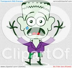 halloween clip art with transparent background clipart of a scared halloween frankenstein crying royalty free