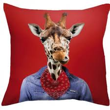 coussin imprime coussin imprimé girafe coussin deco coussin design
