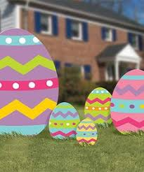 Easter Yard Decorations Diy easter eggs outdoor wood yard art lawn by mikesyarddisplays