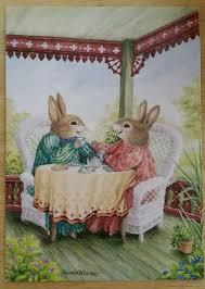 susan wheeler cards vintage pond hill susan wheeler bunny rabbit greeting card