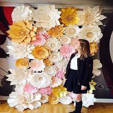 wedding backdrop paper flowers aliexpress buy 44pcs set handmade cardboard paper