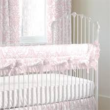 pink filigree crib rail cover carousel designs