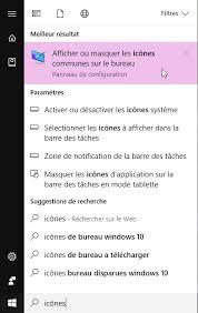 afficher les icones du bureau windows 10 mes icônes ont disparu médiaforma