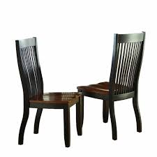 Slat Back Dining Chairs Of 2 Lawton Modern Solid Wood Mision Style Slat Back Dining Chairs
