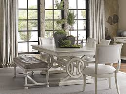trestle dining table with bench oyster bay montauk rectangular dining table lexington home brands