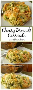 cheesy broccoli casserole is the side dish to any