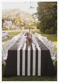 black white striped table runner wholesale lot of 12 tablerunners black and white 1 5 stripe wedding