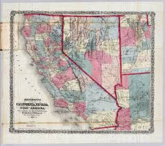California Arizona Map by California Nevada Utah And Arizona David Rumsey Historical Map