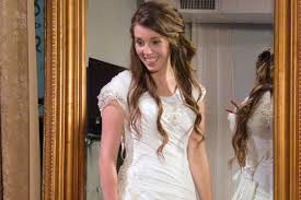 bridal hairstyle for gown wedding dress shopping with jill duggar gallery 19 kids and